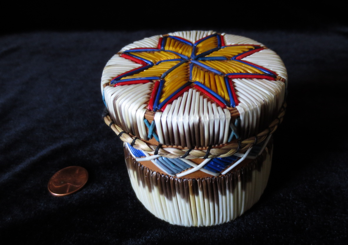 Road Tool Box >> Quill Box: Traditional Starfish Design   American Native Arts and Antiques