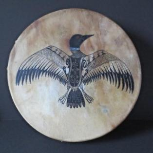 Loon Calls for Glooscap; Drum by Gina Brooks, Maliseet