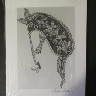 """The Rabbit (Mahtoqehs) print; Gina Brooks Maliseet"