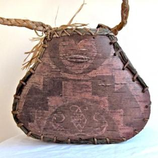 Heart etched on 200 year old birch bark mukuk