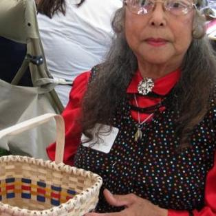 Mary Sanipass, MicMac  & her basket, C/2012