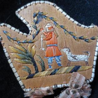 Moose Hair Embroidered Needle Case - Pictorial