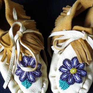 Young girl's beaded moccasins