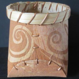 Rabbit Smoking Pipe; Birch Bark Mukuk -side b