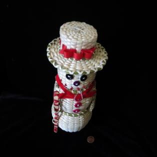 Clara Keezer Snowman basket from top