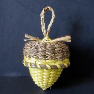 Yellow Acorn Basket