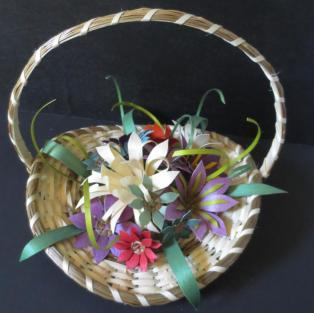 Flower basket, 13 flowers- opposite side