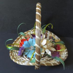 Flower basket, 13 flowers - Side view