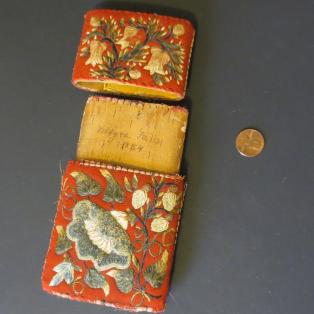 Cheroot/cigar case Moose Hair Embroidered - Open to show date
