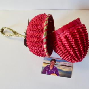 Strawberry Basket: Large - w/card Open