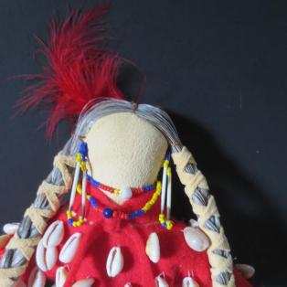 Crow Woman Elder Doll - Head