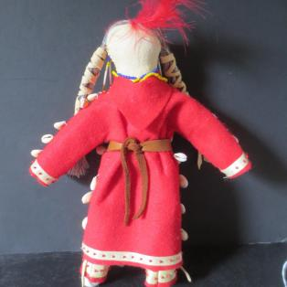 Crow Woman Elder Doll - Back