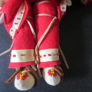 Crow Woman Elder Doll - Leggings and Moccasins